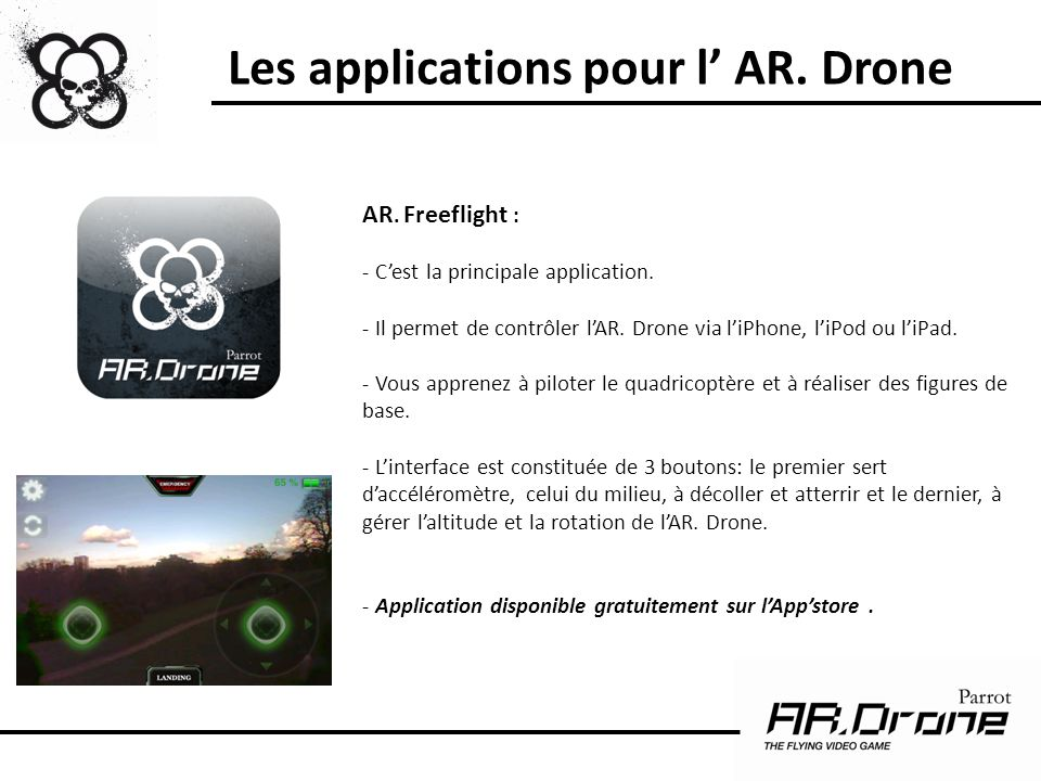 Les applications pour l' AR. Drone