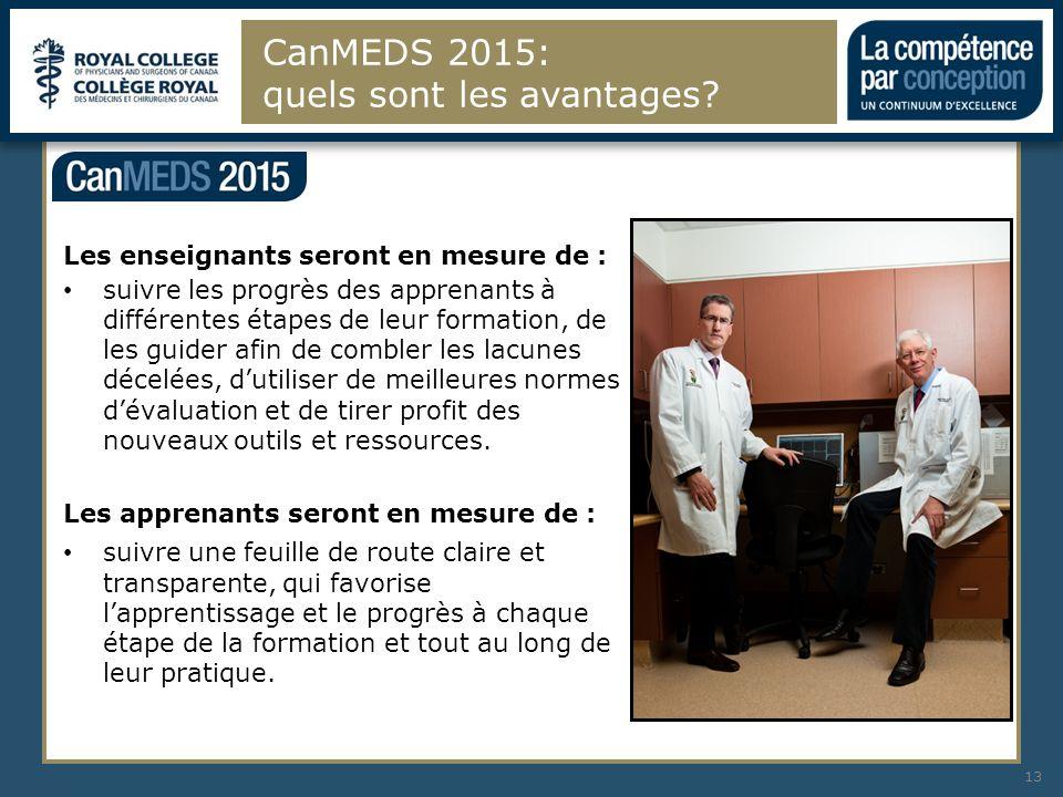 CanMEDS 2015: quels sont les avantages