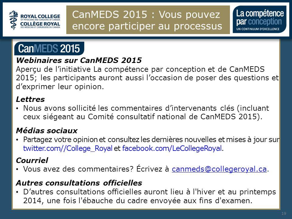 CanMEDS 2015 : Vous pouvez encore participer au processus