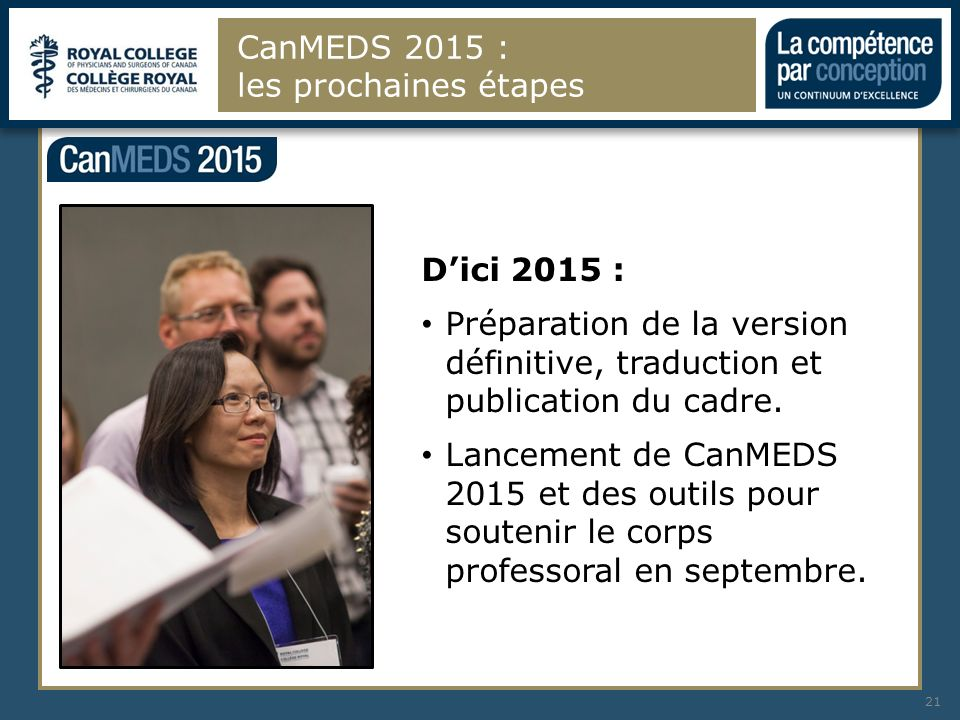 CanMEDS 2015 : les prochaines étapes
