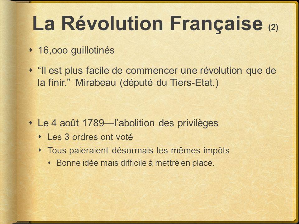 La Révolution Française (2)