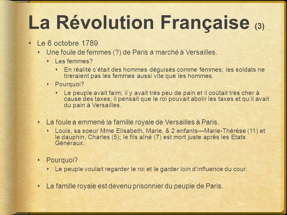La Révolution Française (3)