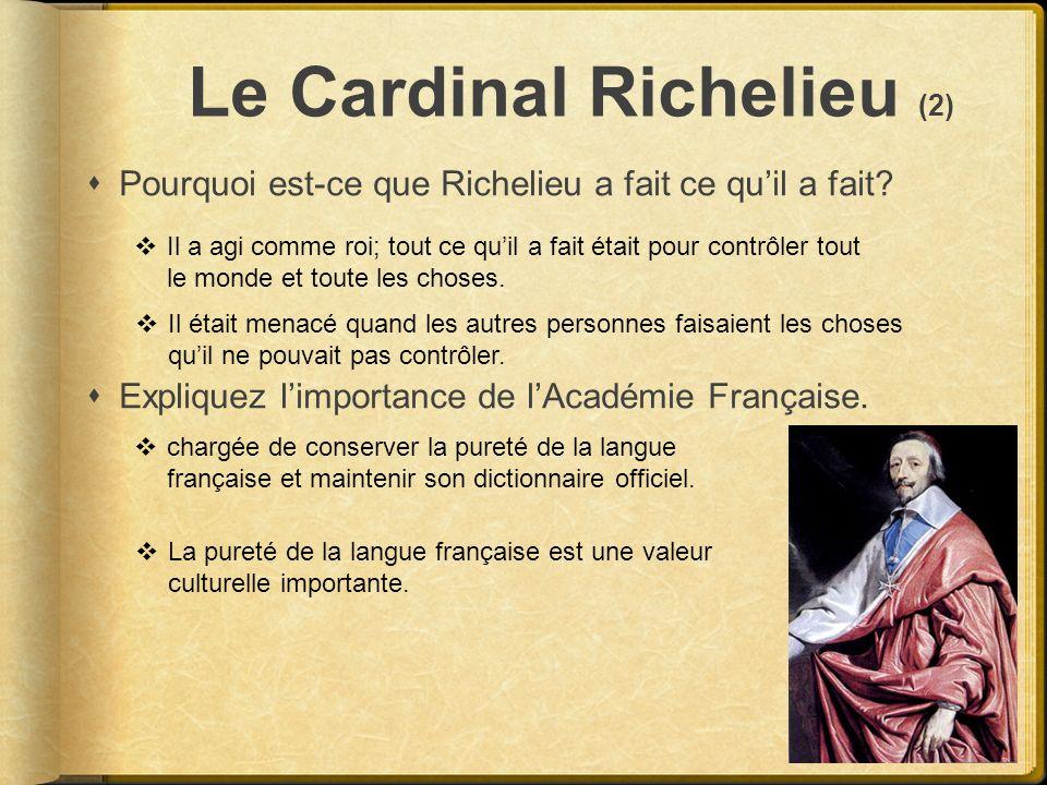 Le Cardinal Richelieu (2)