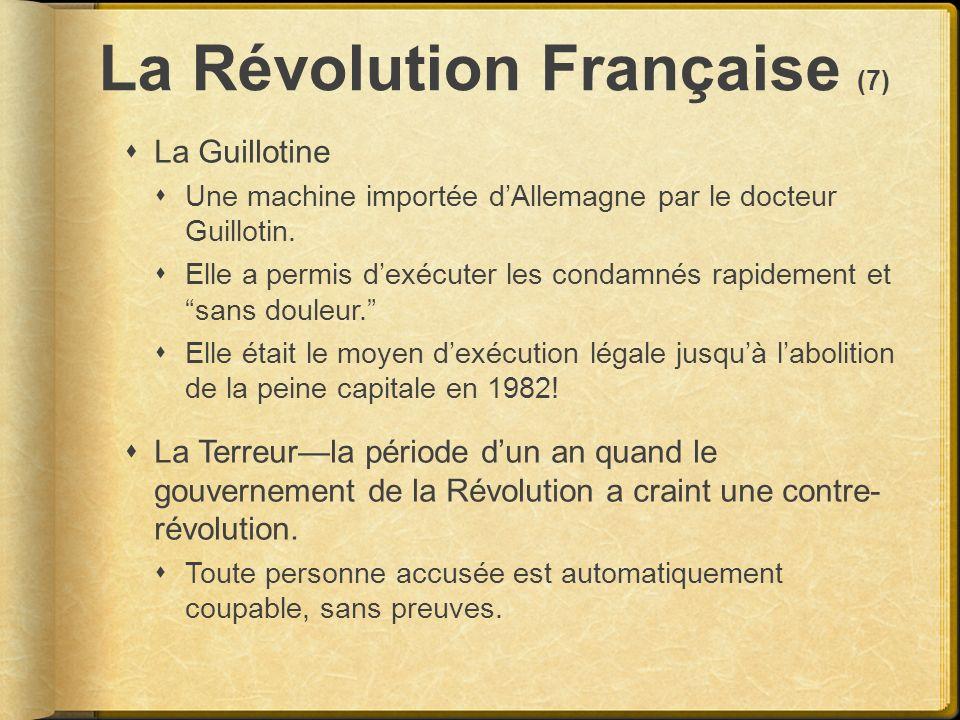 La Révolution Française (7)