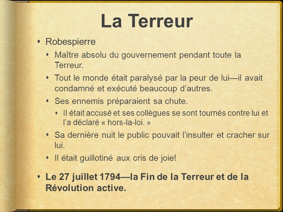 La Terreur Robespierre