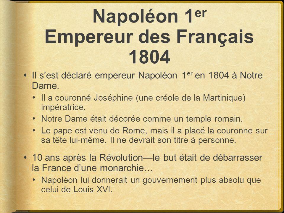 Napoléon 1er Empereur des Français 1804