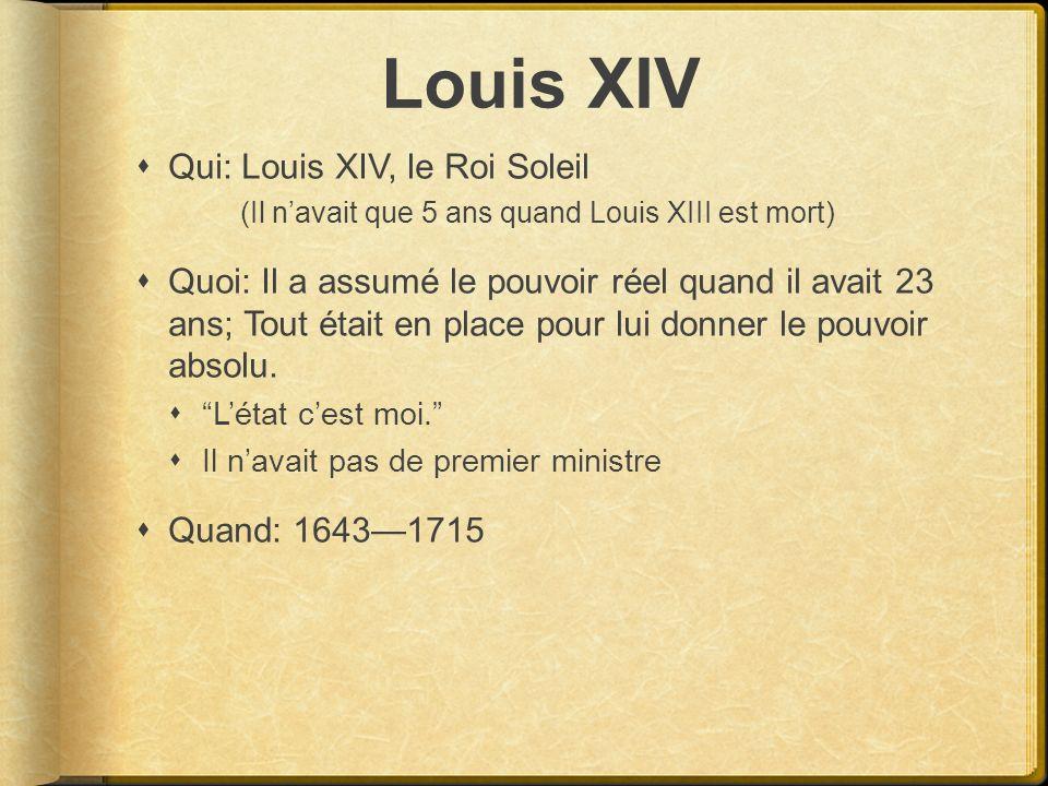 Louis XIV Qui: Louis XIV, le Roi Soleil
