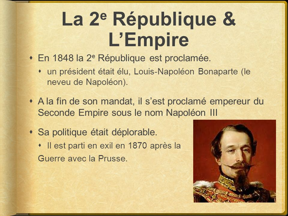 La 2e République & L'Empire