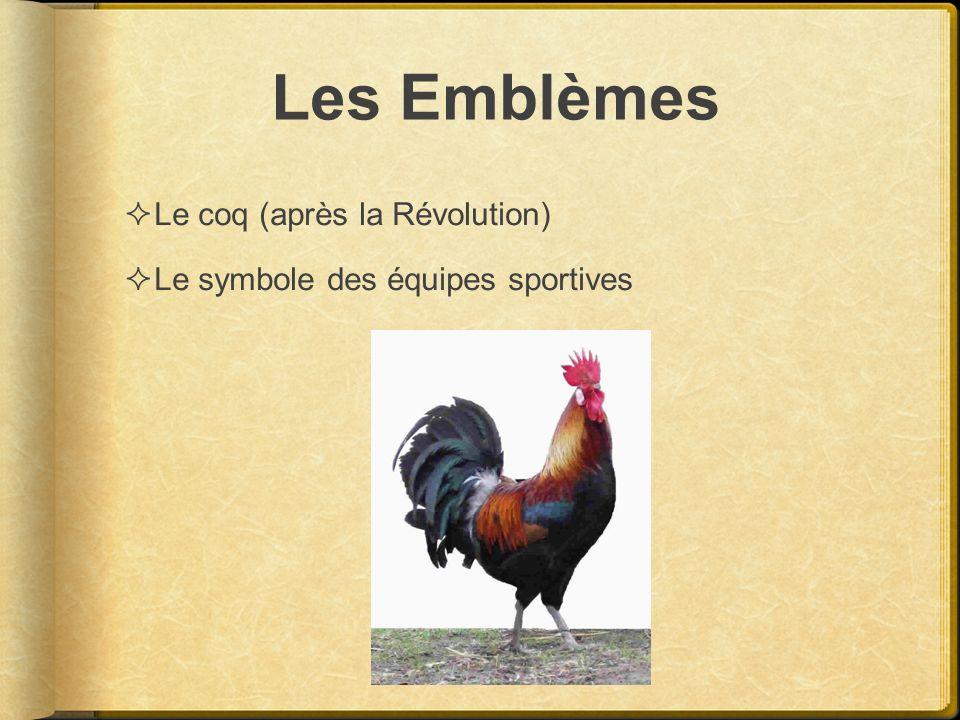 Les Emblèmes Le coq (après la Révolution)