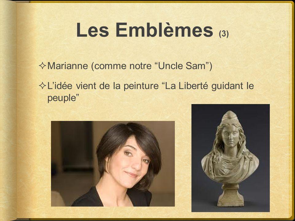Les Emblèmes (3) Marianne (comme notre Uncle Sam )