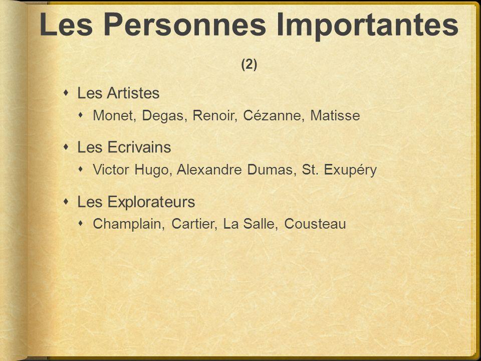 Les Personnes Importantes (2)