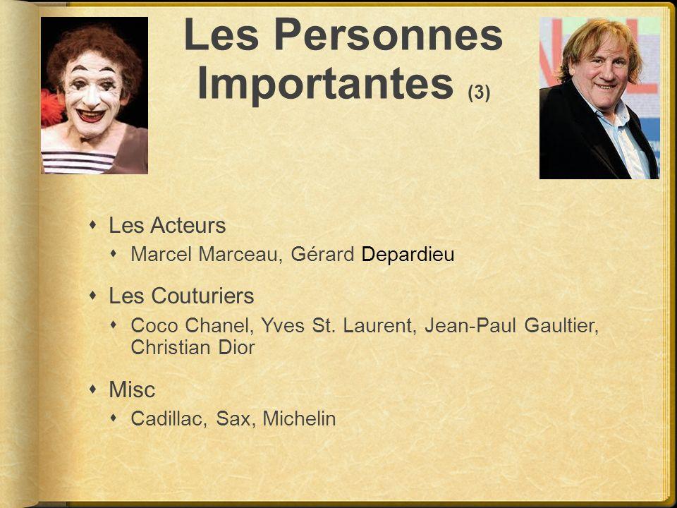 Les Personnes Importantes (3)
