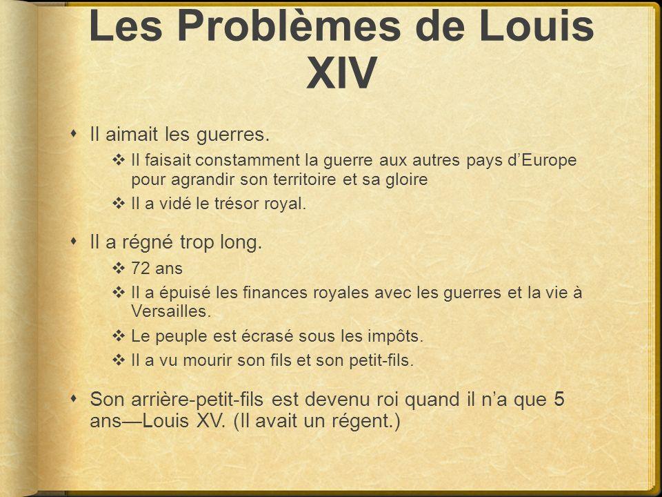 Les Problèmes de Louis XIV