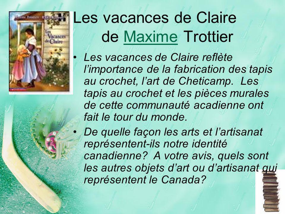 Les vacances de Claire de Maxime Trottier