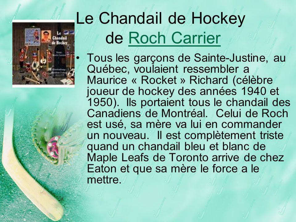 Le Chandail de Hockey de Roch Carrier