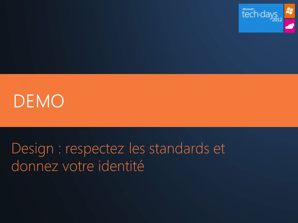 Design : respectez les standards et donnez votre identité