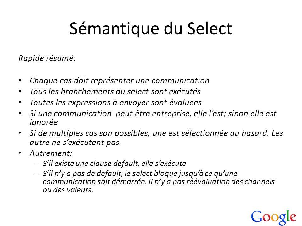 Sémantique du Select Rapide résumé: