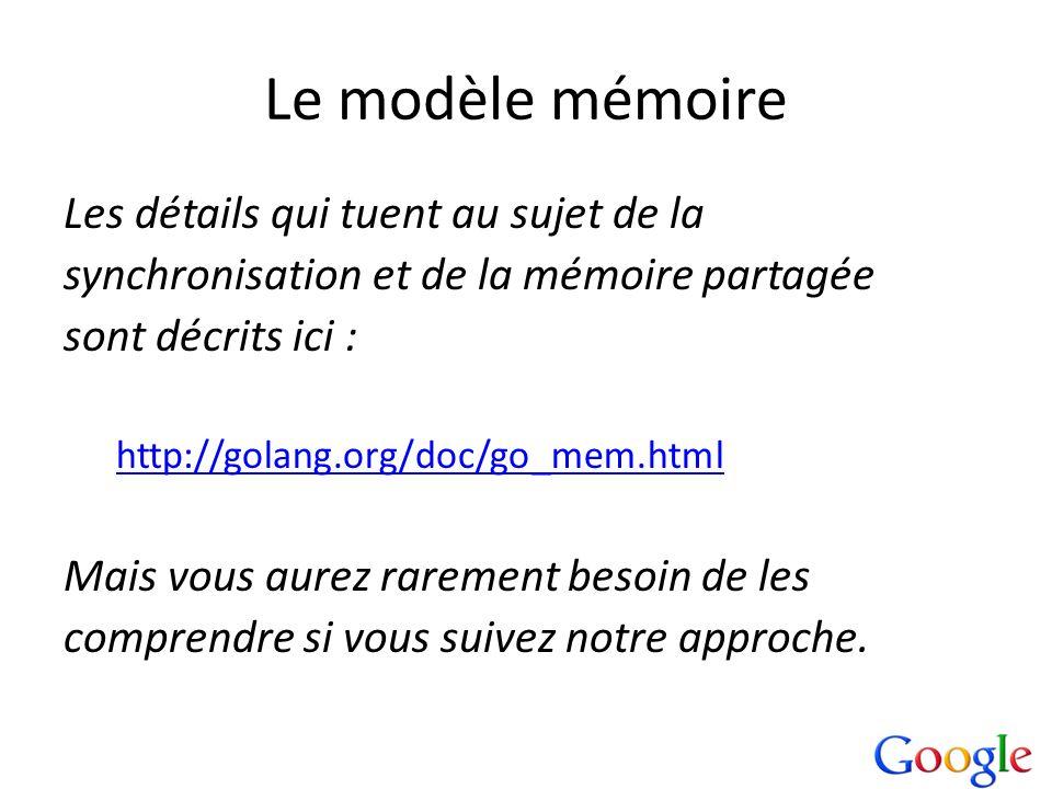 Le modèle mémoire Les détails qui tuent au sujet de la