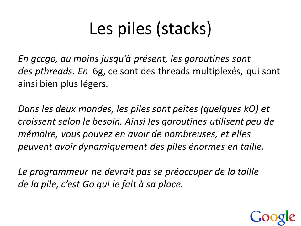 Les piles (stacks)