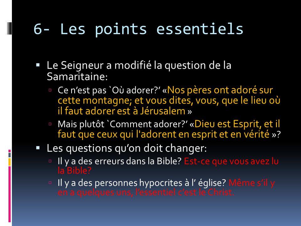 6- Les points essentiels