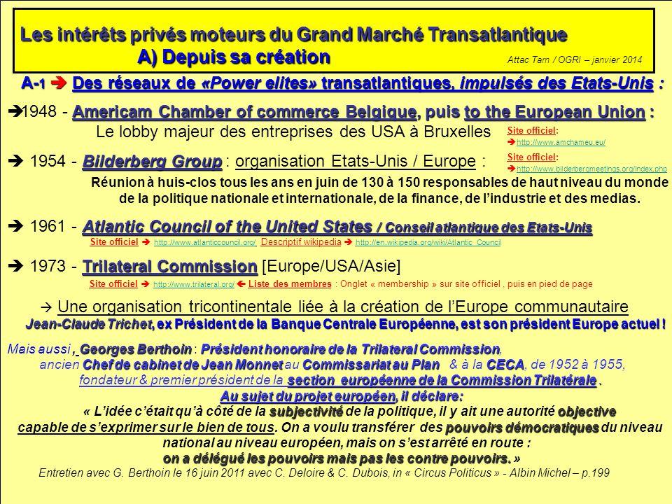 Les intérêts privés moteurs du Grand Marché Transatlantique