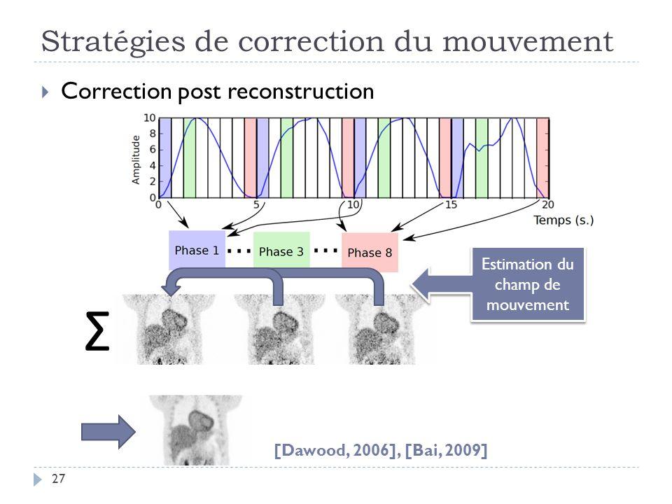 Stratégies de correction du mouvement