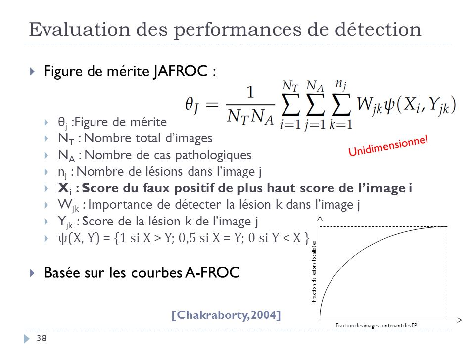 Evaluation des performances de détection