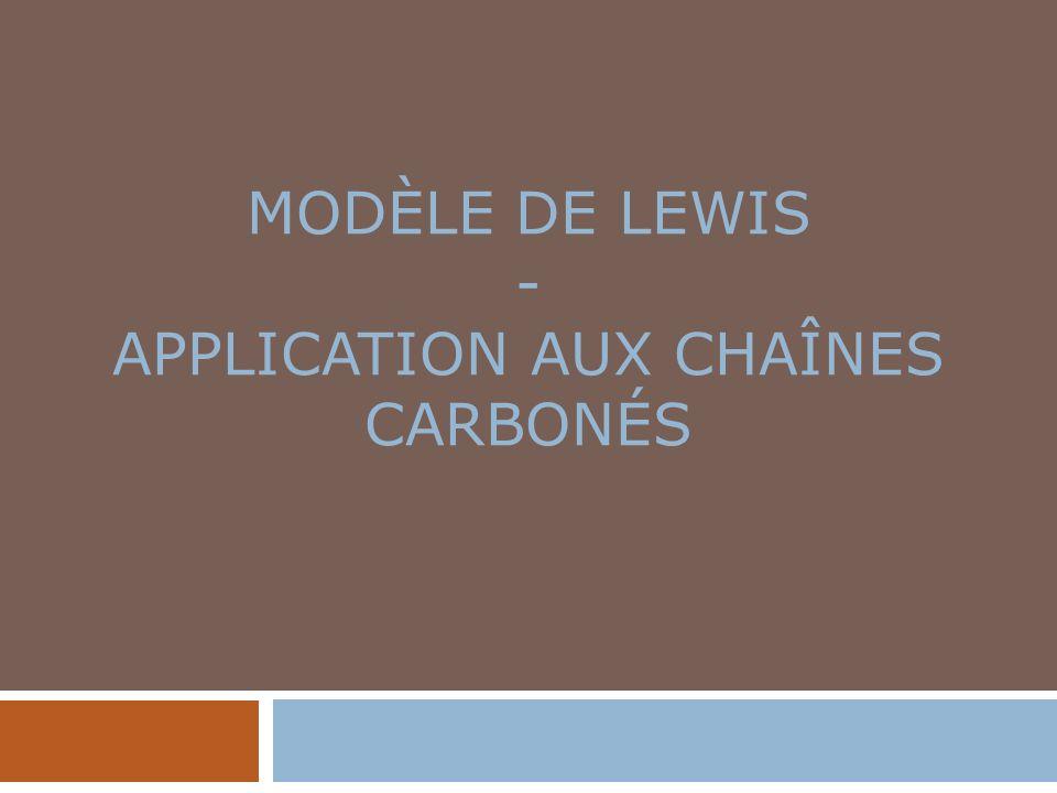 Modèle de Lewis - Application aux chaînes carbonés