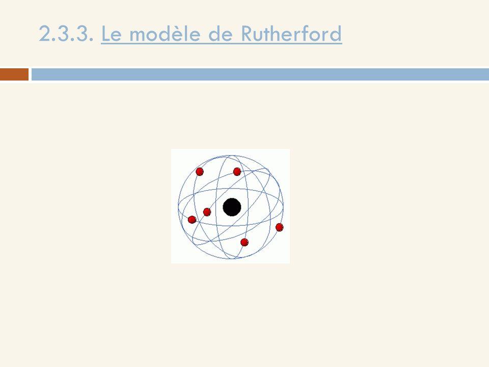 2.3.3. Le modèle de Rutherford