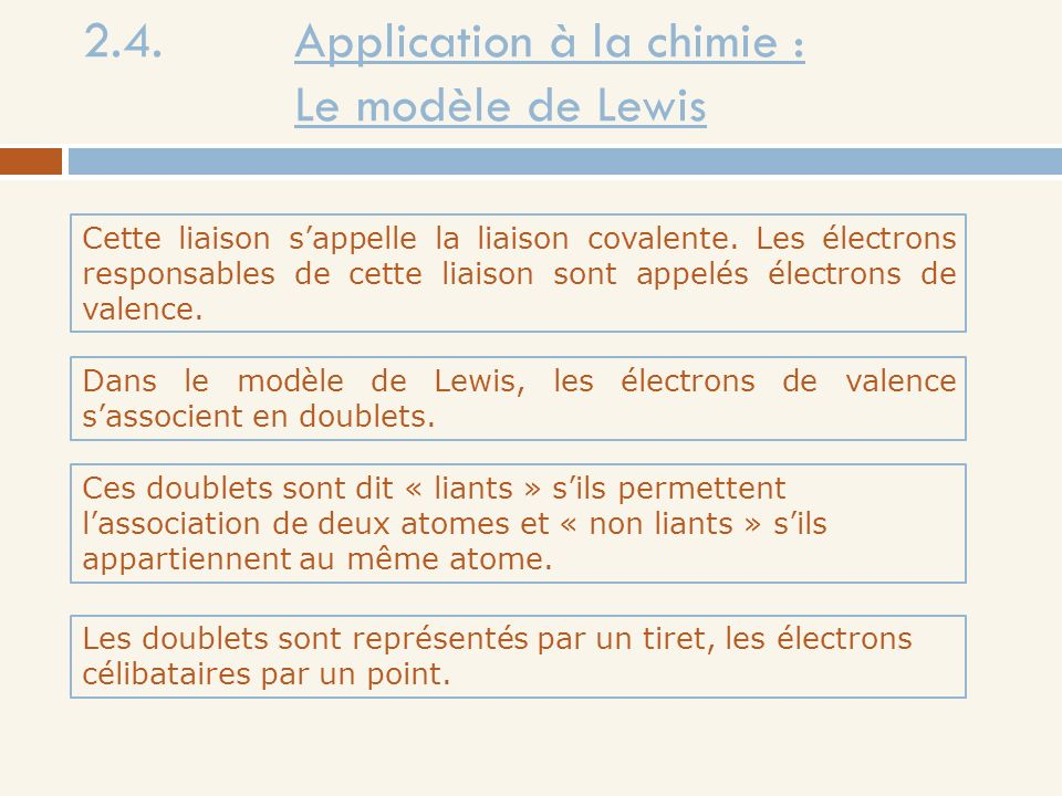 2.4. Application à la chimie : Le modèle de Lewis