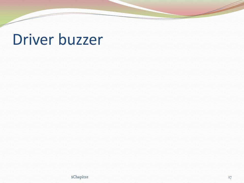 Driver buzzer $Chapitre
