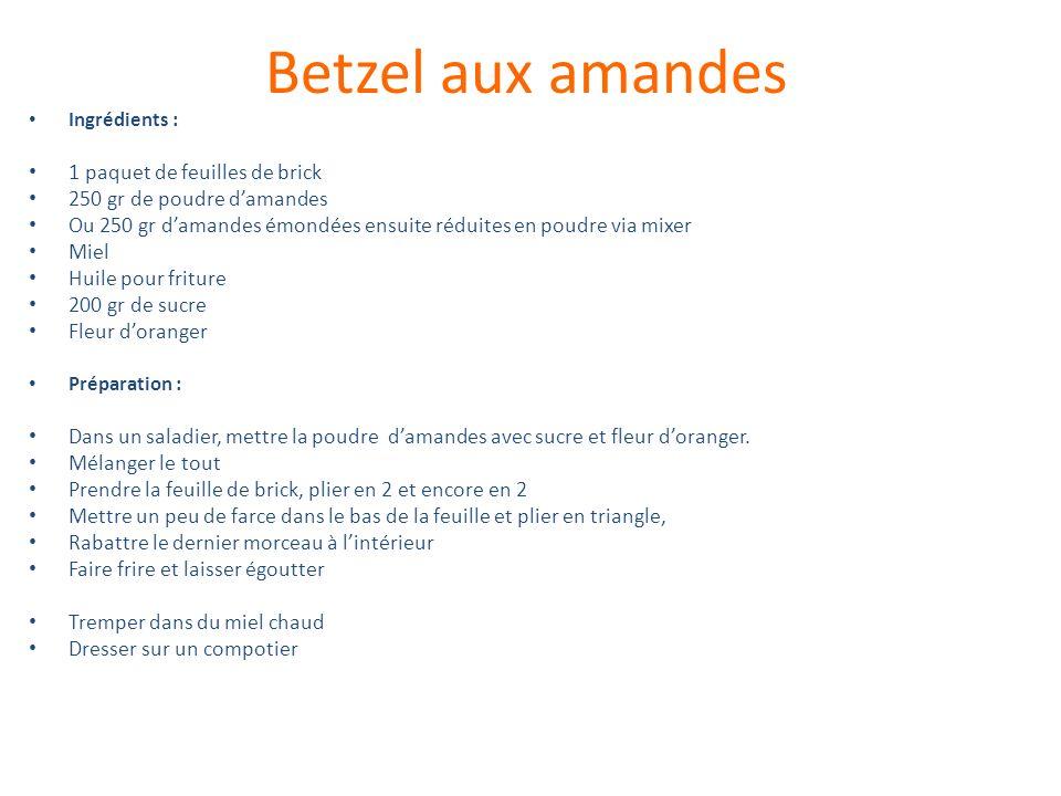 Betzel aux amandes 1 paquet de feuilles de brick