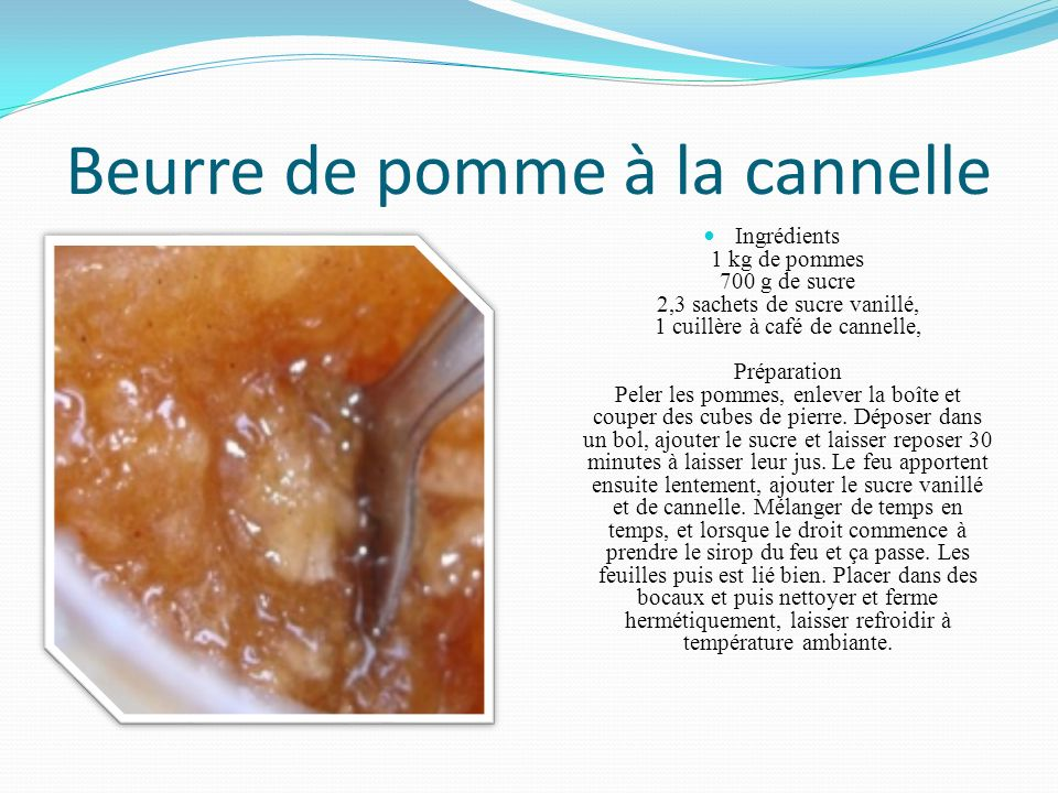 Beurre de pomme à la cannelle