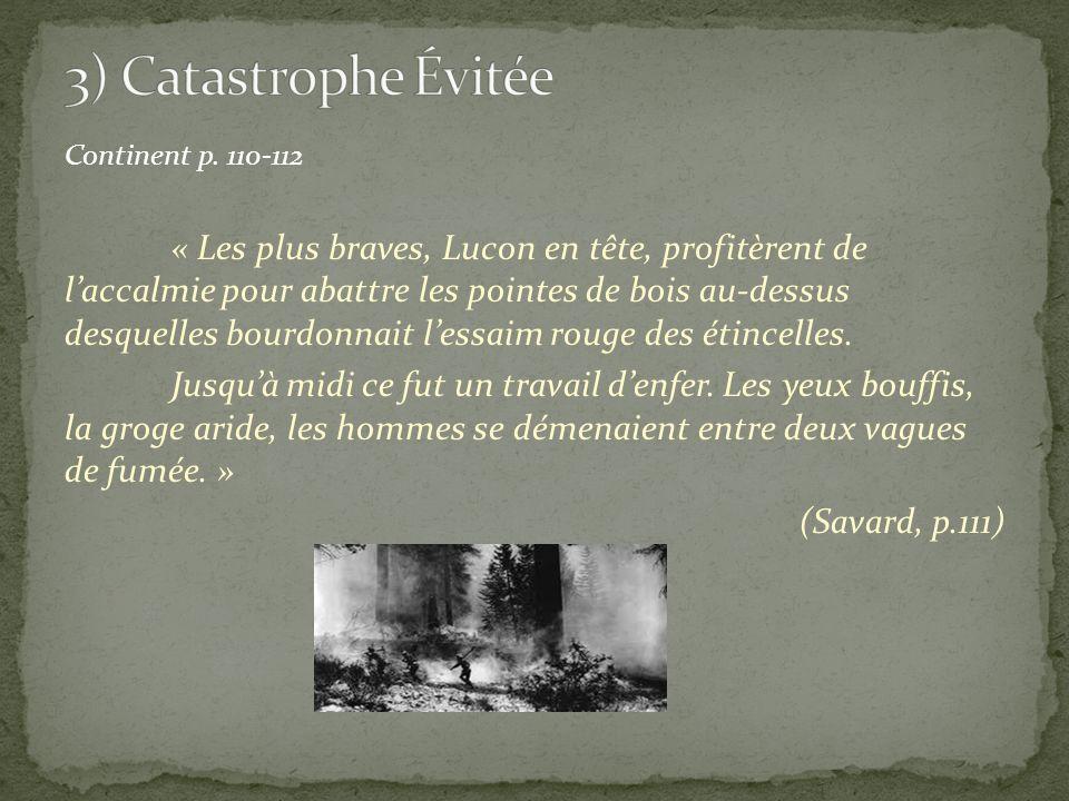 3) Catastrophe Évitée Continent p. 110-112.