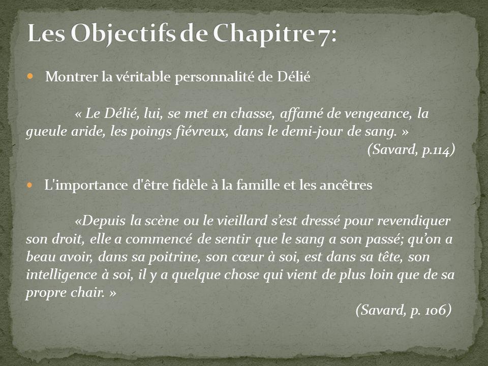 \ Les Objectifs de Chapitre 7: