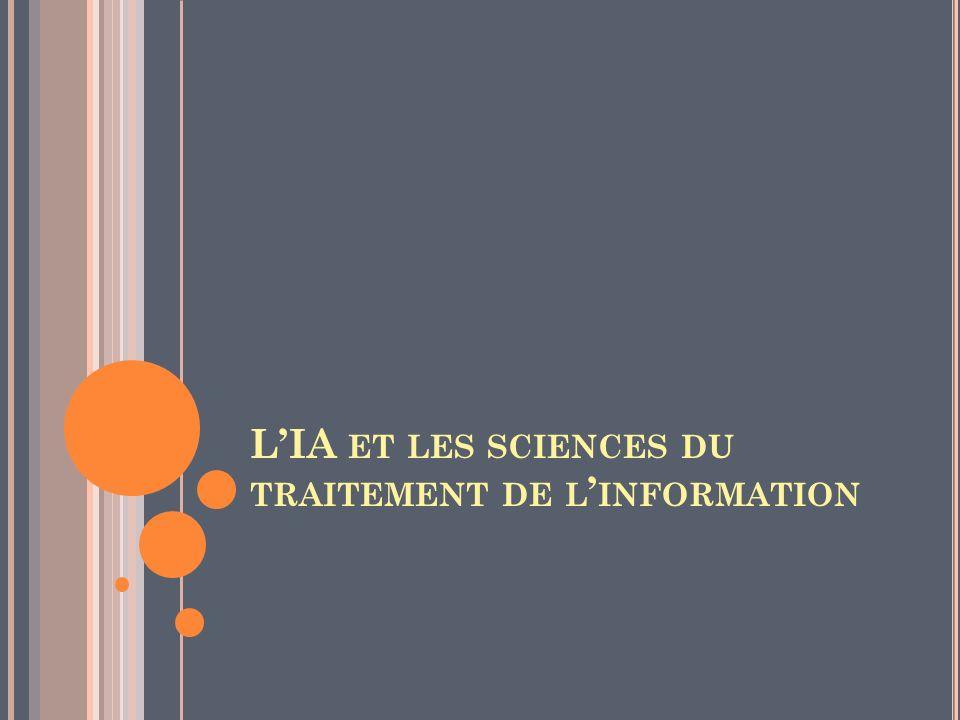 L'IA et les sciences du traitement de l'information