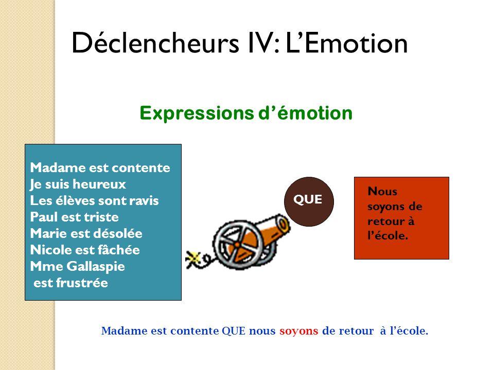 Expressions d'émotion
