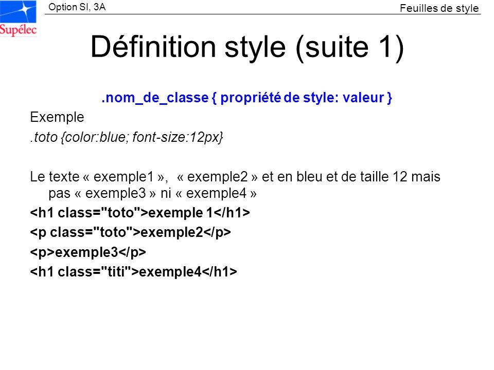 Définition style (suite 1)