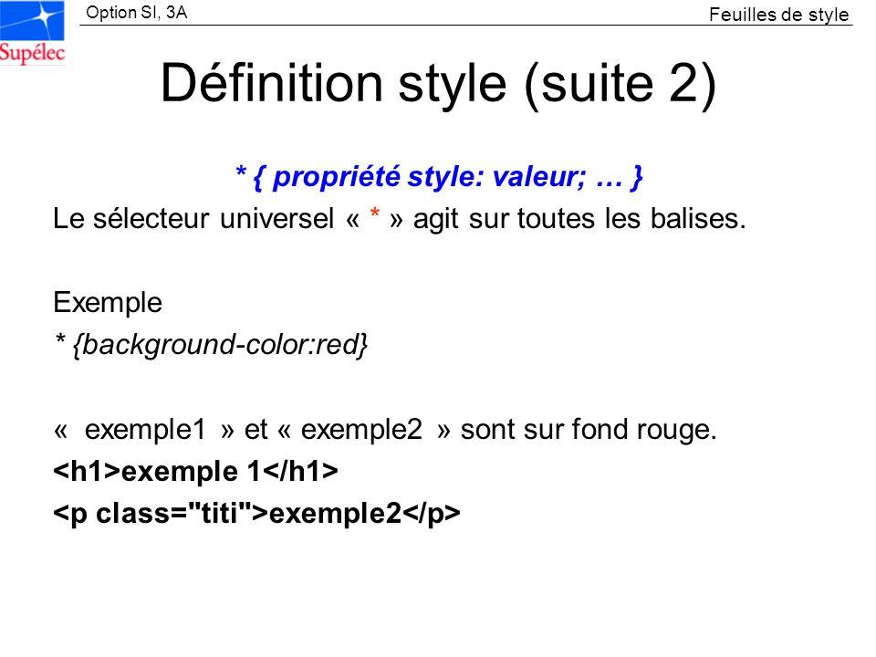 Définition style (suite 2)