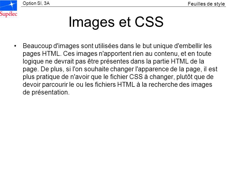 Feuilles de styleImages et CSS.