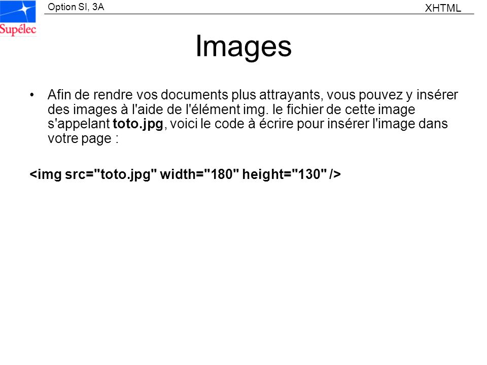 XHTML Images.