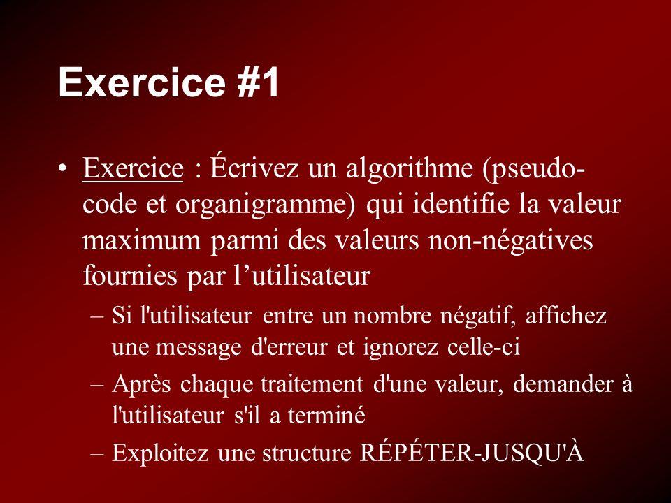 Exercice #1