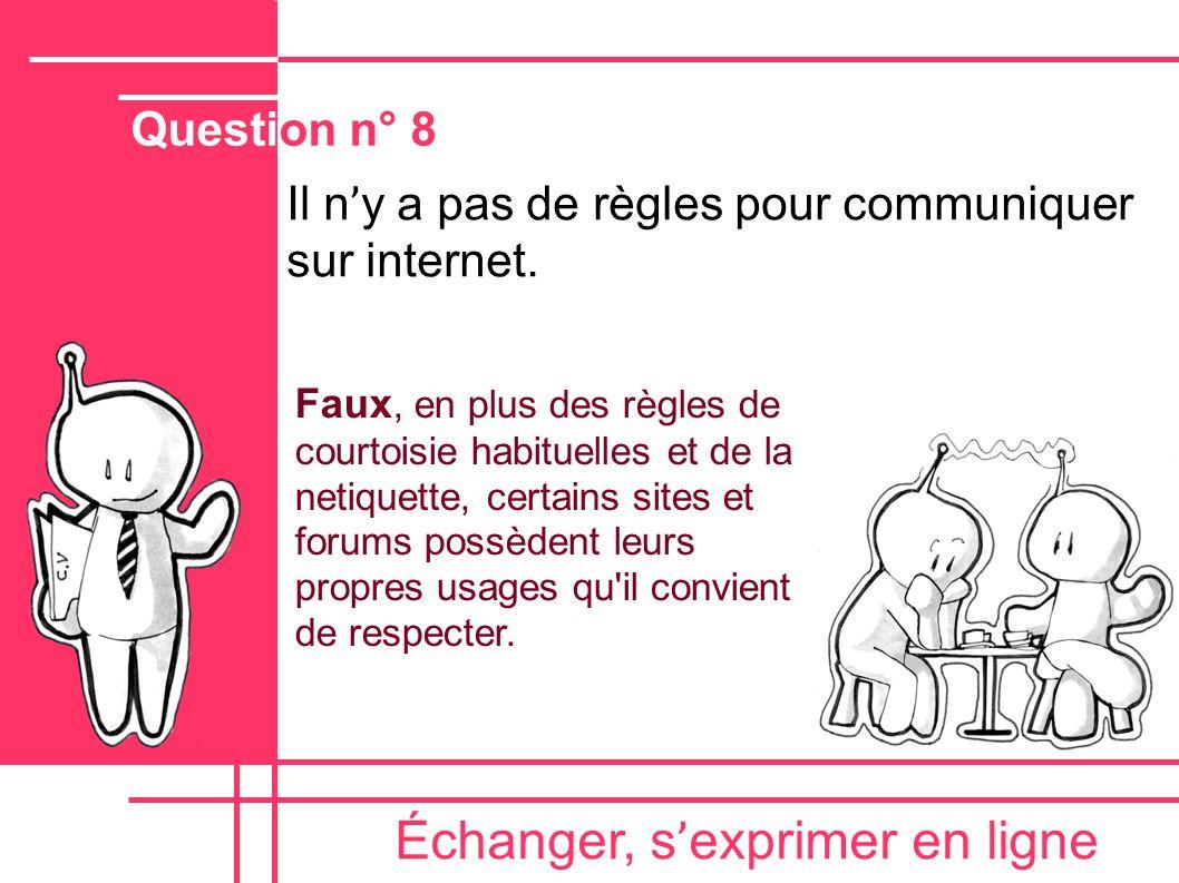 Échanger, s'exprimer en ligne