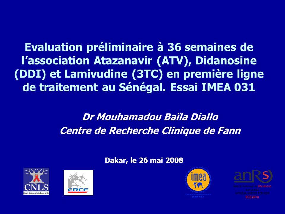 Dr Mouhamadou Baïla Diallo Centre de Recherche Clinique de Fann