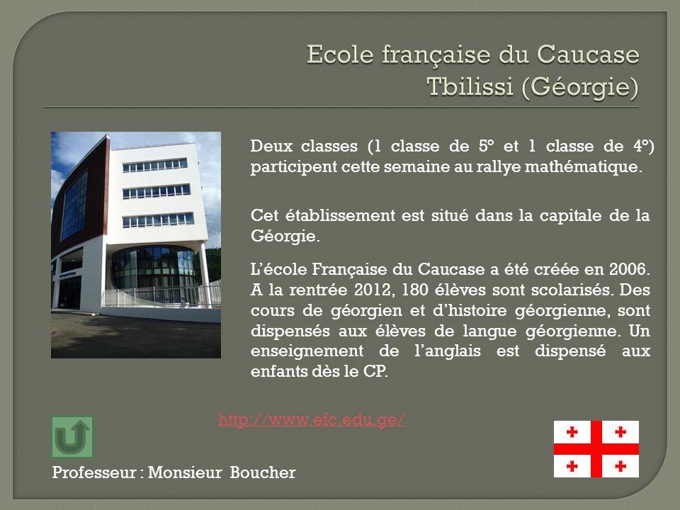 Ecole française du Caucase Tbilissi (Géorgie)