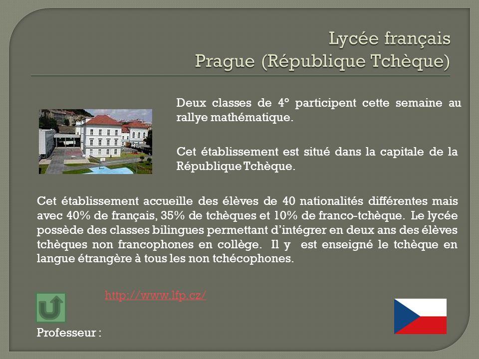 Lycée français Prague (République Tchèque)
