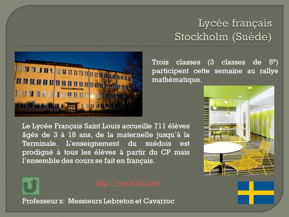 Lycée français Stockholm (Suède)