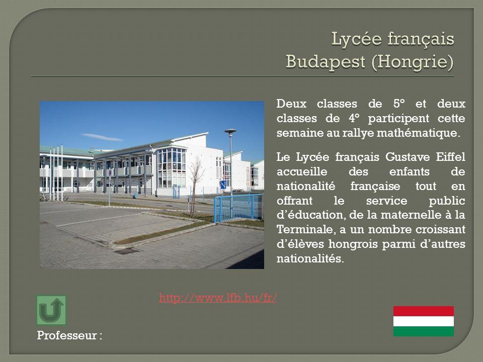Lycée français Budapest (Hongrie)