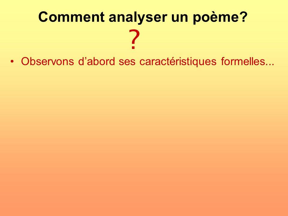 Comment analyser un poème