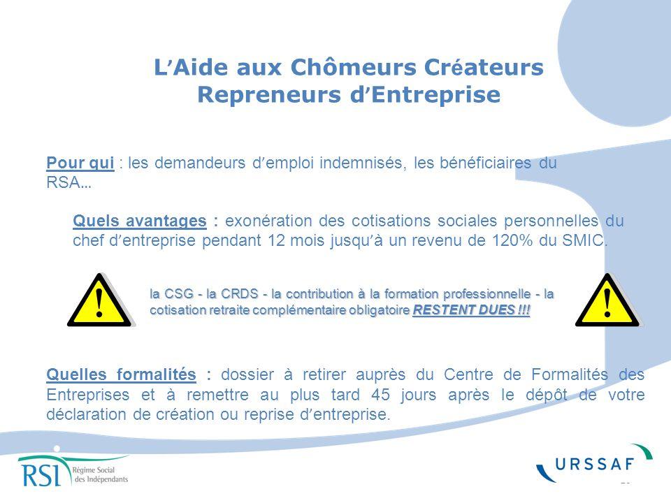 L'Aide aux Chômeurs Créateurs Repreneurs d'Entreprise